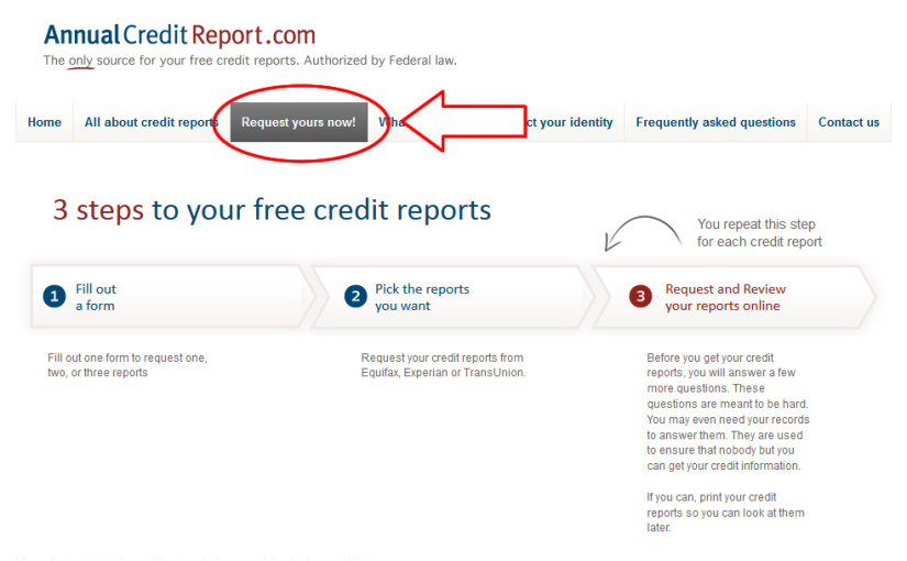 AnnualcreditreportCom  Free Us Credit Reports By Ftc Mandate